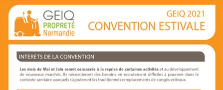 Convention estivale